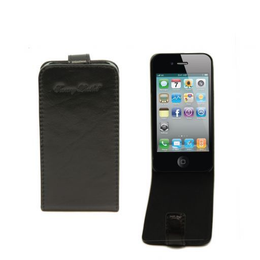 Leather iPhone4/4s holder Black TL141212