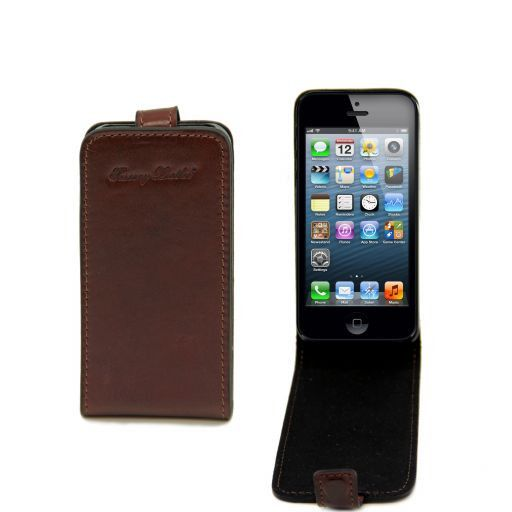 Cover per iPhone 5 in pelle Marrone TL141213