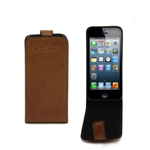 Cover per iPhone 5 in pelle Miele TL141213