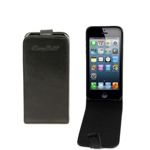 Cover per iPhone 5 in pelle Nero TL141213