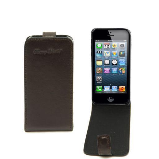 Cover per iPhone 5 in pelle Testa di Moro TL141213