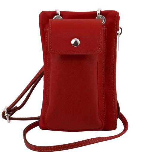 TL Bag Tracollina Portacellulare in pelle morbida Rosso TL141423