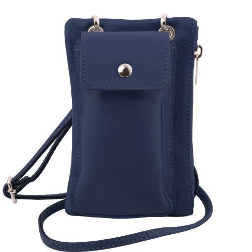 TL Bag Soft Leather cellphone holder mini cross bag Темно-синий TL141423