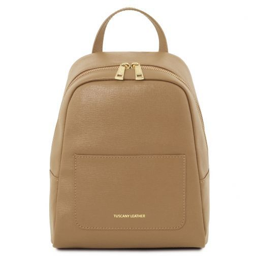TL Bag Small Saffiano leather backpack for woman Карамель TL141701