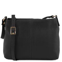 TL Bag Soft leather shoulder bag Black TL141720