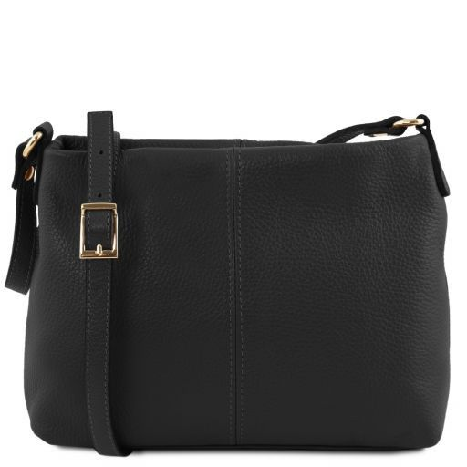 TL Bag Borsa a tracolla in pelle morbida Nero TL141720