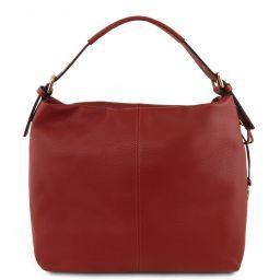 TL Bag Borsa hobo in pelle morbida Rosso TL141719