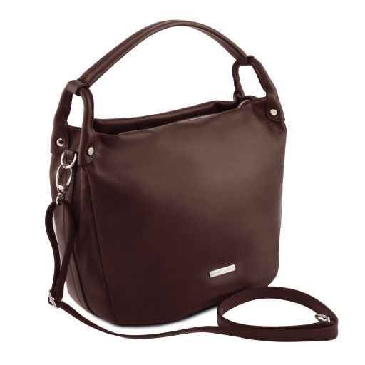 c9bfd8464c3e20 TL Bag Soft Leather Hobo bag Dark Brown TL141721