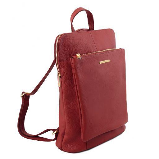 TL Bag Zaino donna in pelle morbida Rosso TL141682