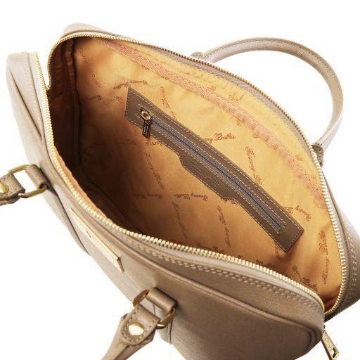 Prato Esclusiva cartella porta notebook in pelle Saffiano Caramello TL141626