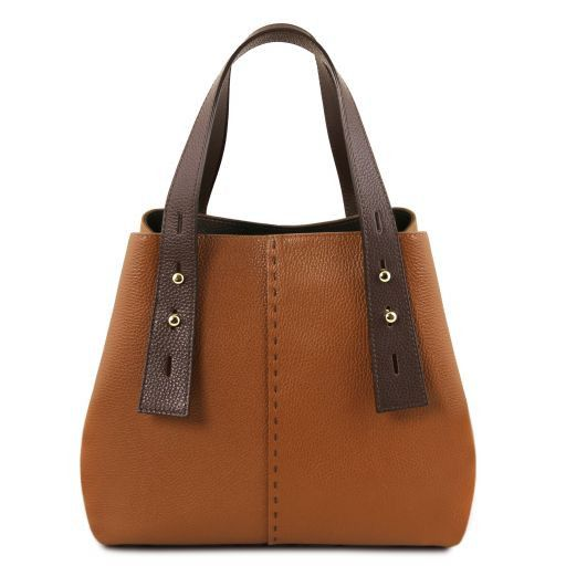 TL Bag Borsa shopping in pelle Cognac TL141730