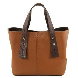 TL Bag Borsa shopping in pelle Cognac TL141730