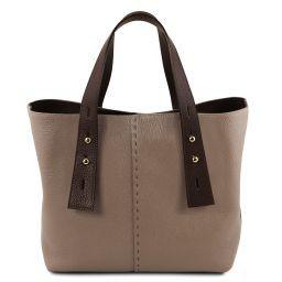 TL Bag Borsa shopping in pelle Talpa scuro TL141730