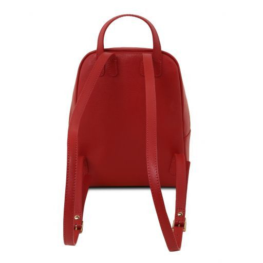 TL Bag Small Saffiano leather backpack for women Red TL141701