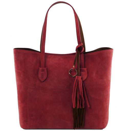 TL Bag Suede leather shopping bag Red TL141639