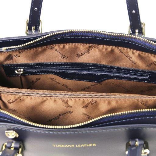 Aura Leather handbag Dark Blue TL141434