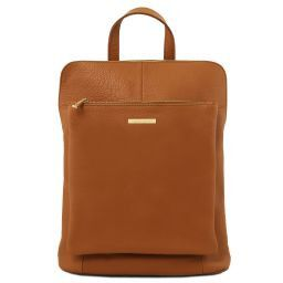 TL Bag Soft leather backpack for women Коньяк TL141682