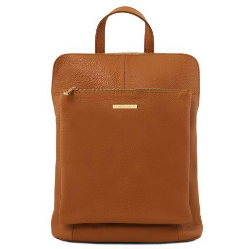 TL Bag Soft leather backpack for women Cognac TL141682