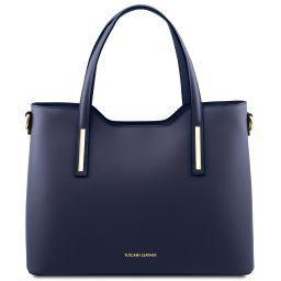 Olimpia Borsa shopping in pelle Blu scuro TL141412