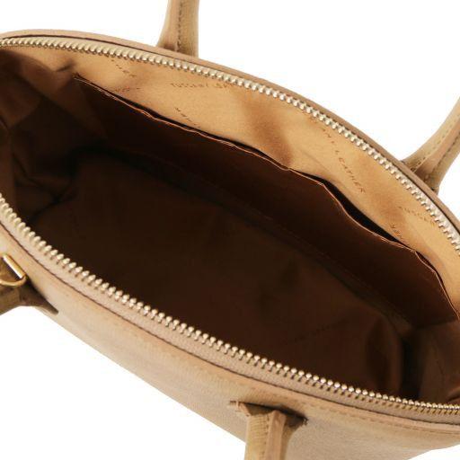 TL KeyLuck Sac cabas en cuir Saffiano - Petit modèle Caramel TL141265