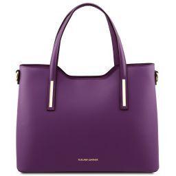 Olimpia Shopper Tasche aus Leder Purple TL141412