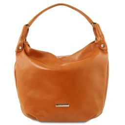 TL Bag Borsa hobo in pelle morbida Cognac TL141721