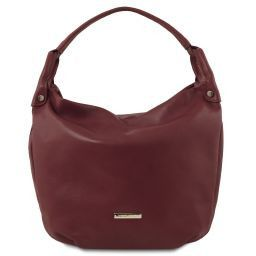 TL Bag Borsa hobo in pelle morbida Bordeaux TL141721
