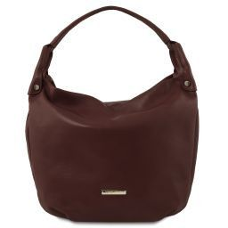 TL Bag Borsa hobo in pelle morbida Testa di Moro TL141721