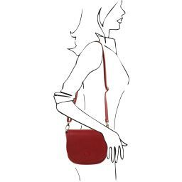 Rosa Pochette in pelle con tracolla Rosso TL141726