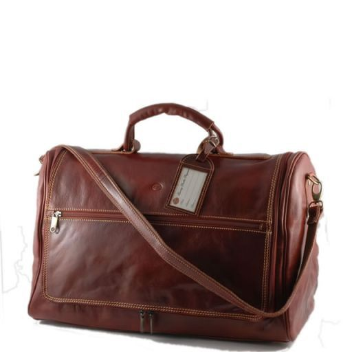 Ginevra Travel leather bag Brown TL10168