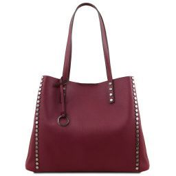 TL Bag Borsa shopper in pelle morbida Bordeaux TL141735
