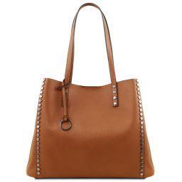 TL Bag Cityshopper aus weichem Leder Cognac TL141735