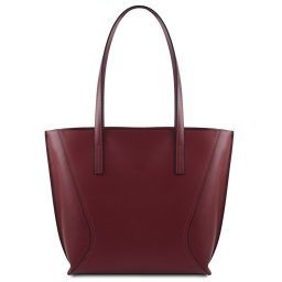 Nemesi Borsa shopper in pelle Bordeaux TL141790