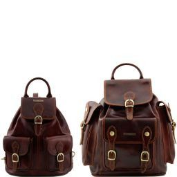 Trekker Travel set Leather backpacks Brown TL90173