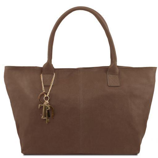 TL KeyLuck Borsa shopping in pelle Talpa scuro TL141207