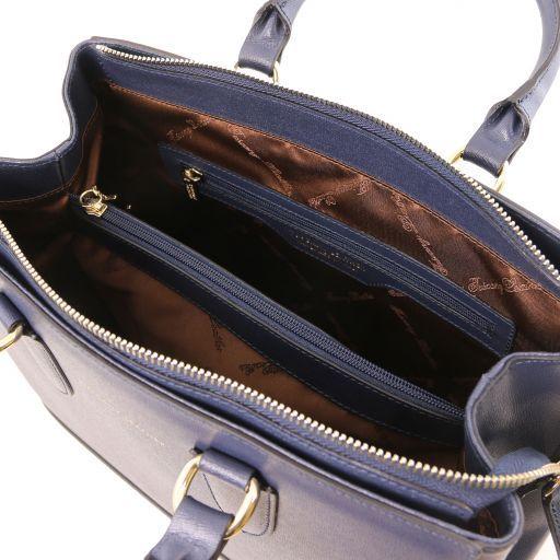 TL Bag Bolso a mano en piel Saffiano Azul oscuro TL141638