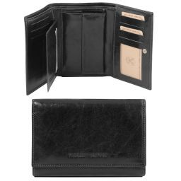 Exclusive leather wallet for women Black TL141314
