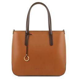Penelope Leather tote Коньяк TL141791