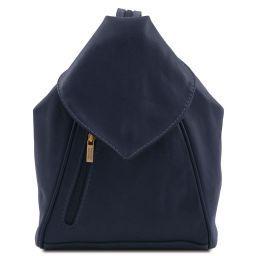 Delhi Рюкзак из мягкой кожи Темно-синий TL140962