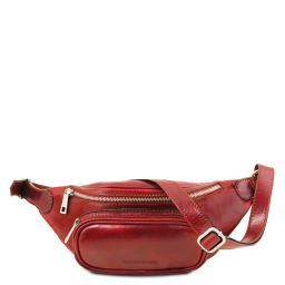 Leather fanny pack Red TL141797