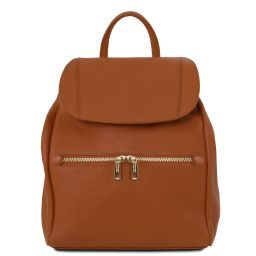 TL Bag Soft leather backpack for women Коньяк TL141697