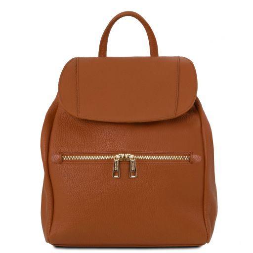 TL Bag Sac à dos pour femme en cuir souple Cognac TL141697