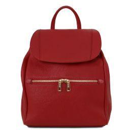 TL Bag Mochila para mujer en piel suave Rojo TL141697