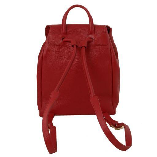 TL Bag Sac à dos pour femme en cuir souple Rouge TL141697