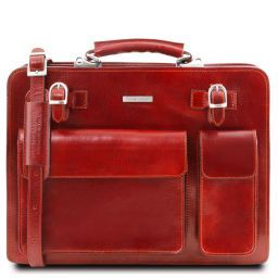 Venezia Leather briefcase 2 compartments Red TL141268