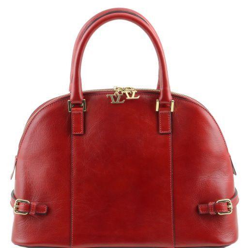 TL Bag Borsa a mano in pelle con fibbie Rosso TL141235