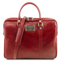 Prato Exclusive leather laptop case Red TL141283