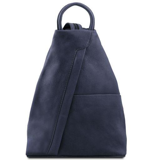 comprare on line f4d43 9e250 Zaino in pelle morbida - Blu scuro