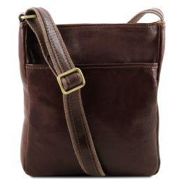 Jason Leather Crossbody Bag Dark Brown TL141300