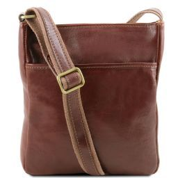 Jason Leather Crossbody Bag Brown TL141300